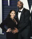 Pregnant Vanessa Laine Bryant and husband Kobe Bryant arrive at the 2019 Vanity Fair Oscar Party held at the Wallis Annenberg Center for the Performing Arts on February 24, 2019 in Beverly Hills, Los Angeles, California, United States. (Photo by Xavier Co