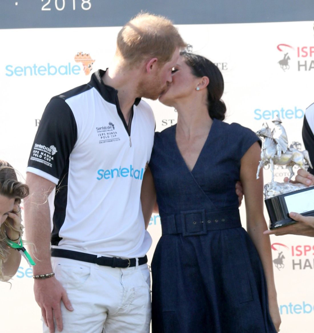 Prince Harry plays in the Sentebale ISPS Handa Polo Cup