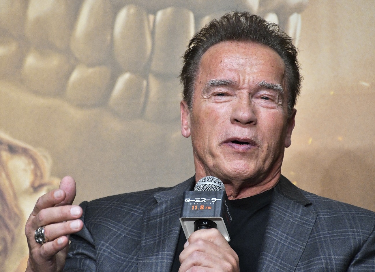 Arnold Schwarzenegger at the press conference for the movie 'Terminator: Dark Fate' at Belle Salle Roppongi. Tokyo, 05.11.2019   usage worldwide