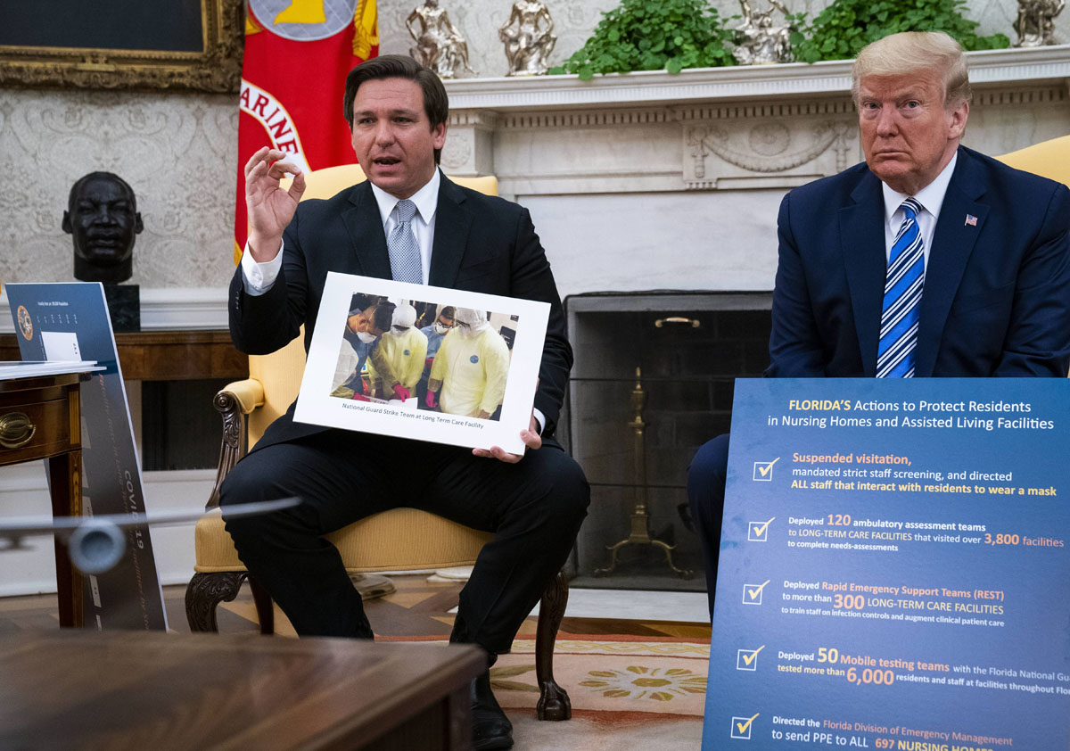 Trump Meets Gov. DeSantis of Florida