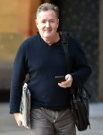 Piers Morgan seen outside the ITV Studios