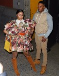 Nicki Minaj and Kenneth Petty attend the Marc Jacobs fashion show during NYFW