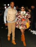 Nicki Minaj and husband Kenneth Petty walk hand in hand out of the Marc Jacobs show in NYC