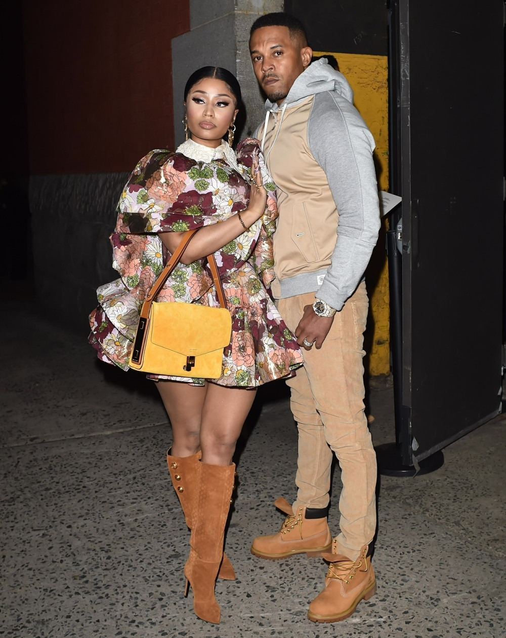 Nicki Minaj with Husband Kenneth Petty spotted at the Marc Jacobs Fashion Show