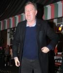 Piers Morgan and wife Celia seen leaving Harry's Bar