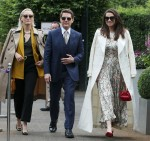 Tom Cruise, Hayley Atwell and Pom Klementieff make an appearance together at Wimbledon in London, UK