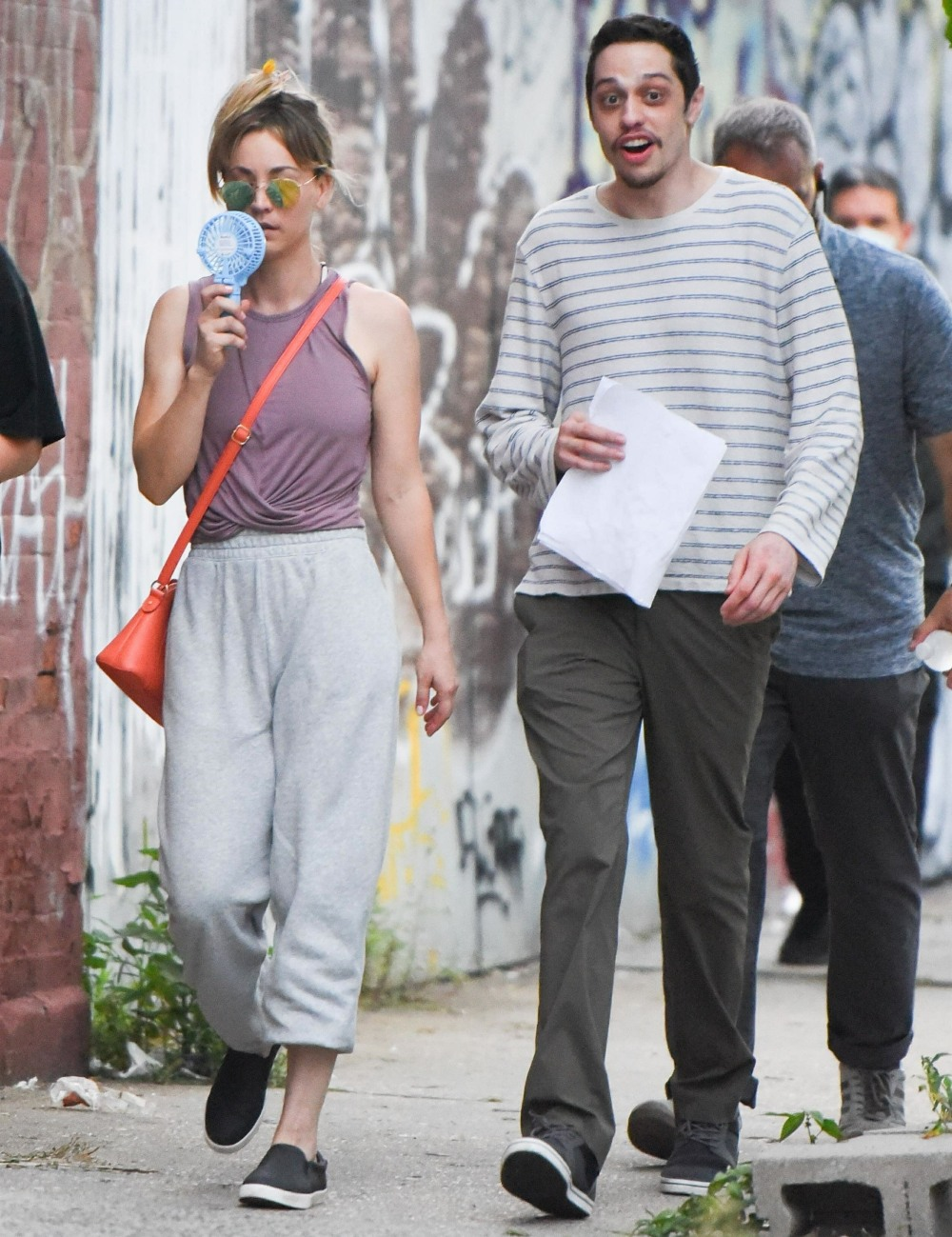 Pete Davidson and Kaley Cuoco filming 'Meet Cute' in NYC