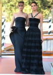 Sara Sampaio and Barbara Palvin pictured at the 78th Venice International Film Festival in Venice