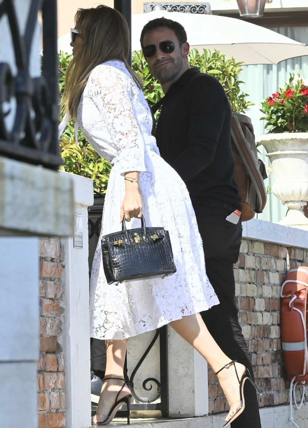 Ben Affleck and Jennifer Lopez arrive in Venice during the 78th Venice Film Festival