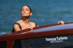 Jennifer Lopez embraces the Italian heat while arriving at the 78th Venice Film Festival