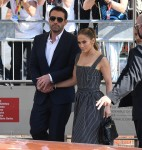 Jennifer Lopez and Ben Affleck arriving on a boat for the 78th Venice Film Festival in Venice
