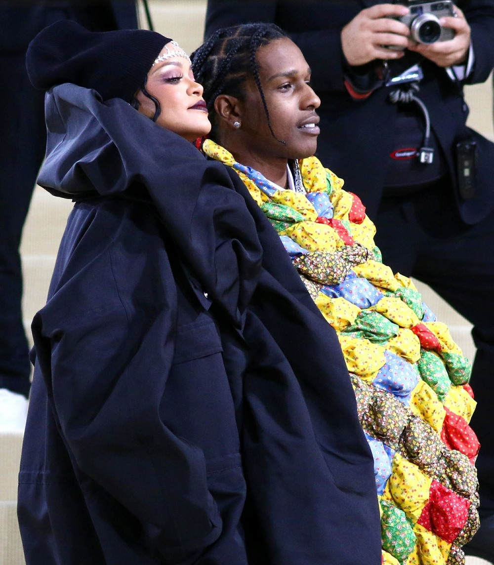 Rihanna and ASAP Rocky attend the 2021 Met Gala