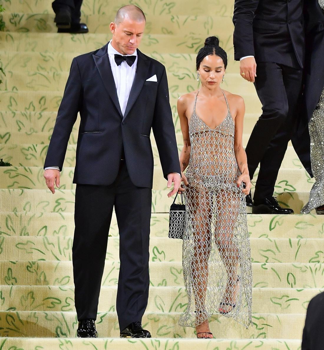 Channing Tatum and Zoe Kravitz leave the MET Gala hand in hand
