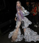 Grimes leaves the Carlyle Hotel for a Met Gala after-party in NYC