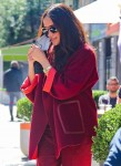 Meghan Markle picks the perfect red velvet coat for fall in NYC