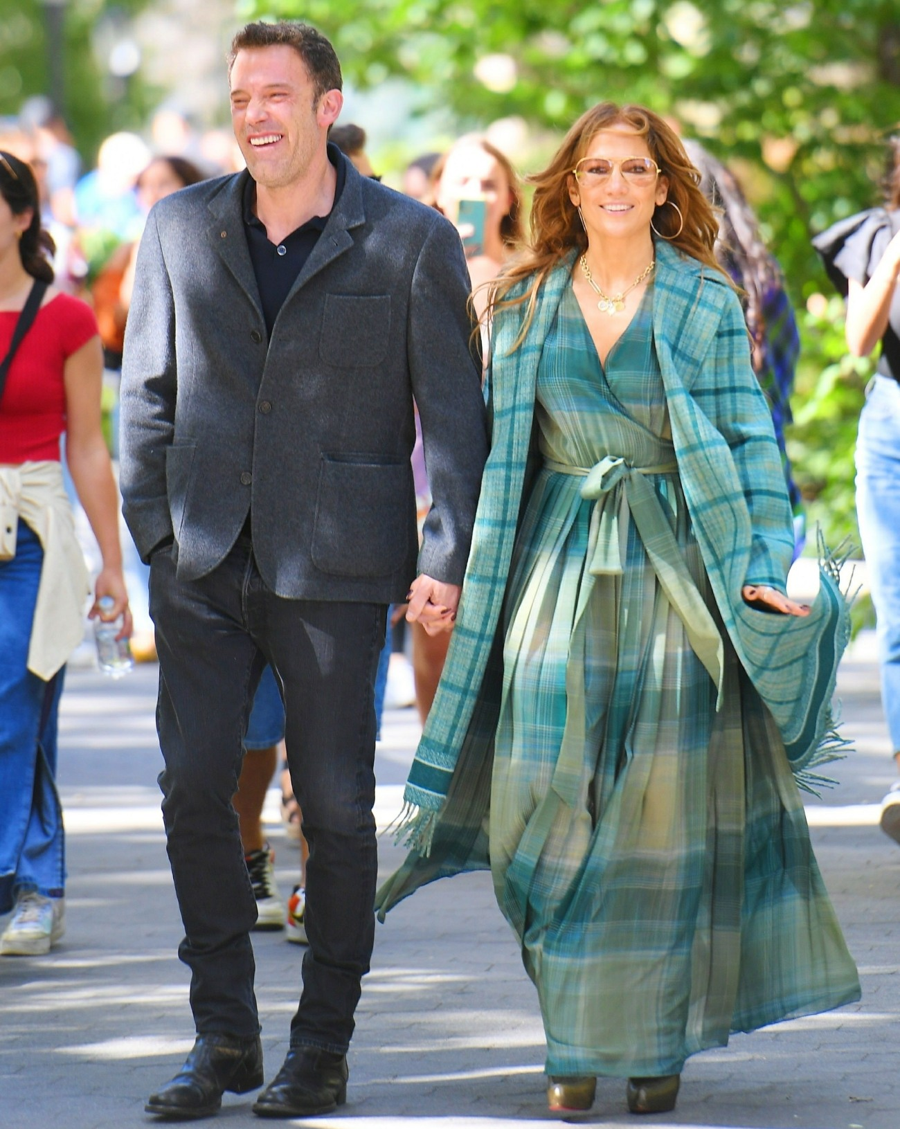Jennifer Lopez and Ben Affleck spotted packing on the PDA as they go for a walk in Madison Square Park
