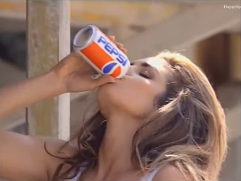 Cindy Crawford for Pepsi in 1991