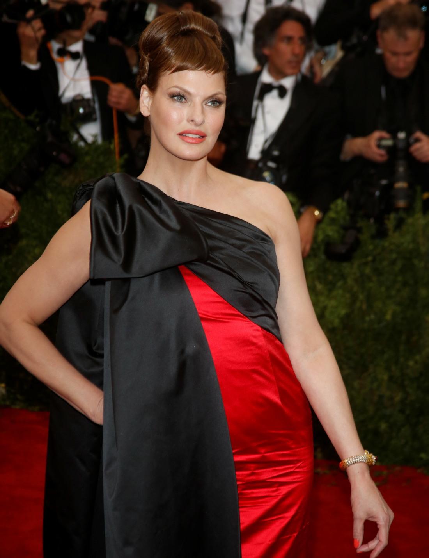Model Linda Evangelista attends the 2015..........