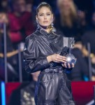 Doutzen Kroes (l) and Paz Vega present at the 2019 MTV EMAs, Europe Music Awards, at Fibes Conference & ExhibitionCentre in Seville, Spain, on 03 November 2019. | usage worldwide