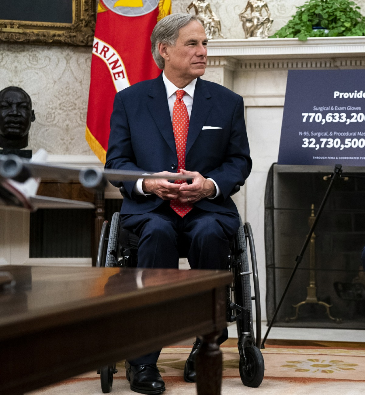Trump Meets with Governor Greg Abbott of Texas