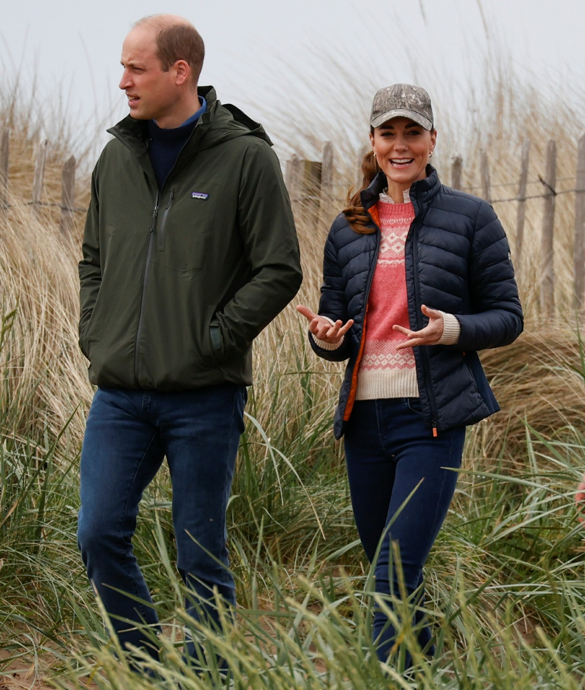 Britain's Prince William and Catherine, Duchess of Cambridge try land yachting at St Andrews
