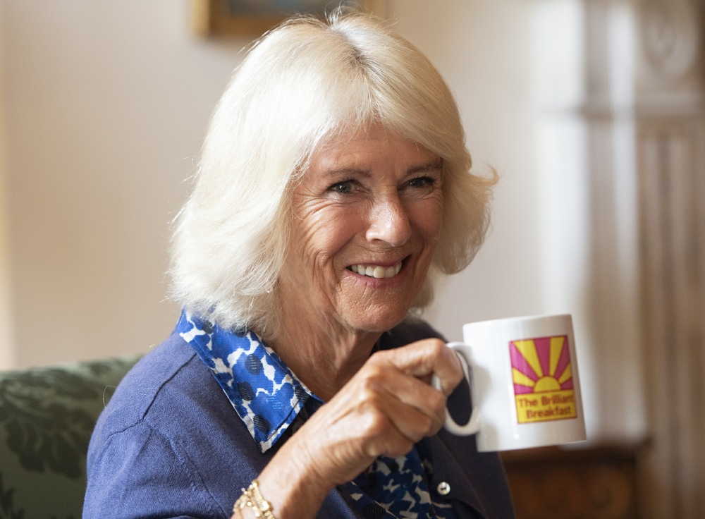 Camilla, Duchess of Cornwall, meets young women who have been supported by The Prince's Trust, ahead of the charity's 'Brilliant Breakfast' campaign, at Clarence House, London.