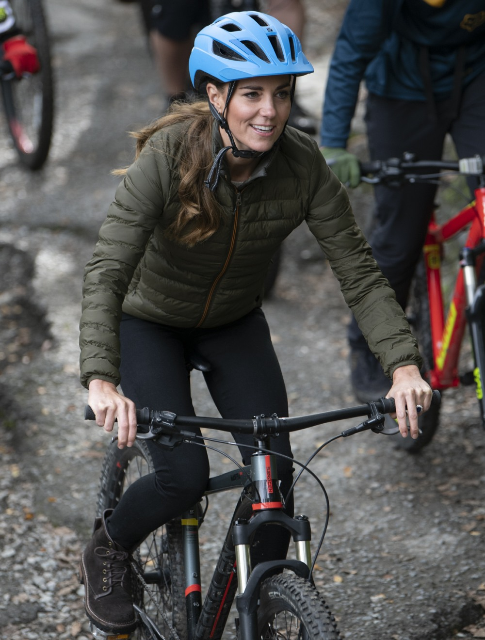 Catherine, Duchess of Cambridge, at the Windermere Adventure Training Centre with RAF Cadets