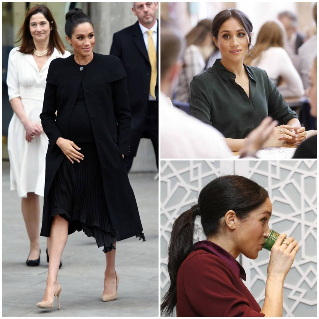 Collage of Duchess Meghan looking gorgeous as usual