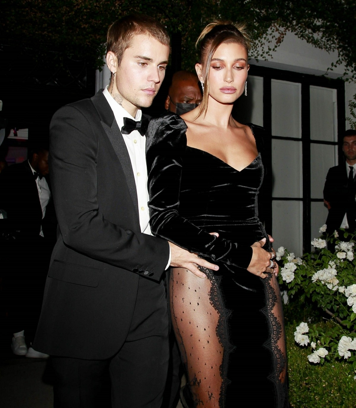 Justin Bieber and Hailey Bieber keep close while leaving an Art Gallery party in West Hollywood