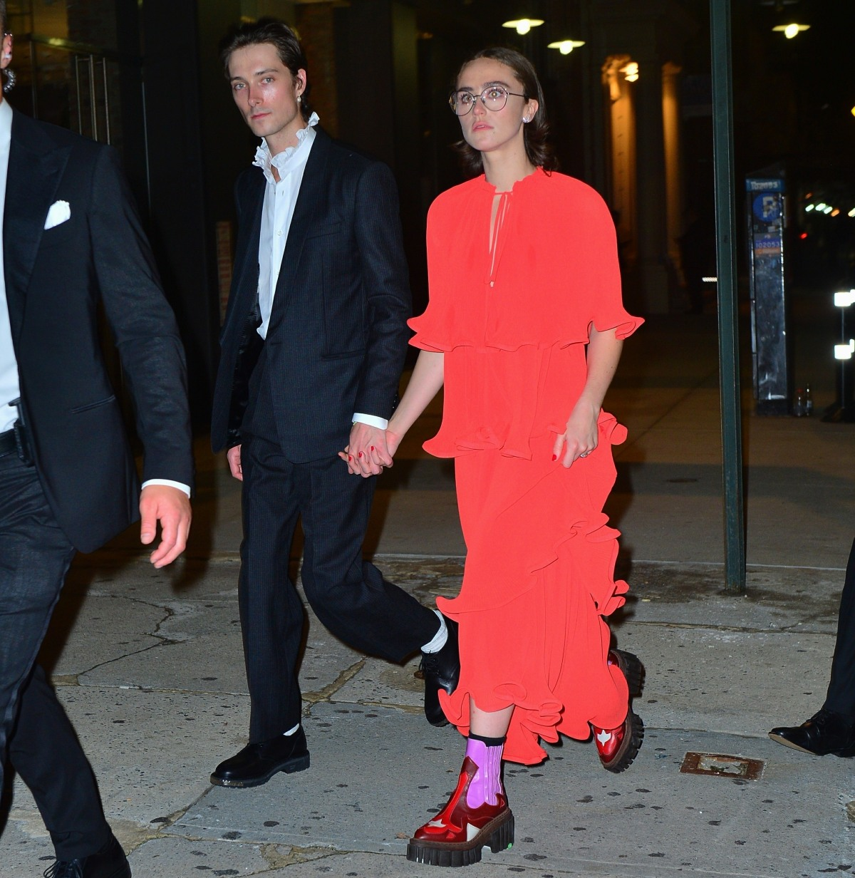 Kamala Harris' stepdaughter Ella Emhoff and her boyfriend Sam Hine leave Rihanna's Met Gala after-party  in NYC