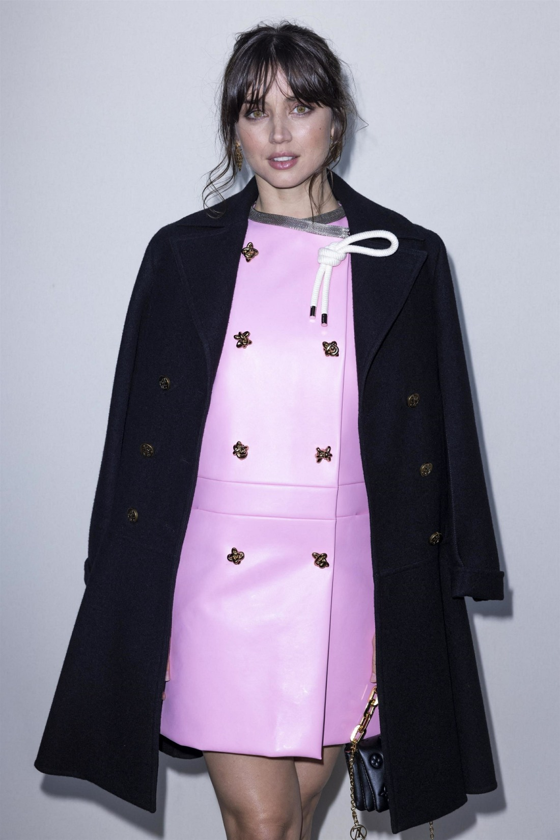 Celebrities attend the Louis Vuitton fashion show during Paris Fashion Week