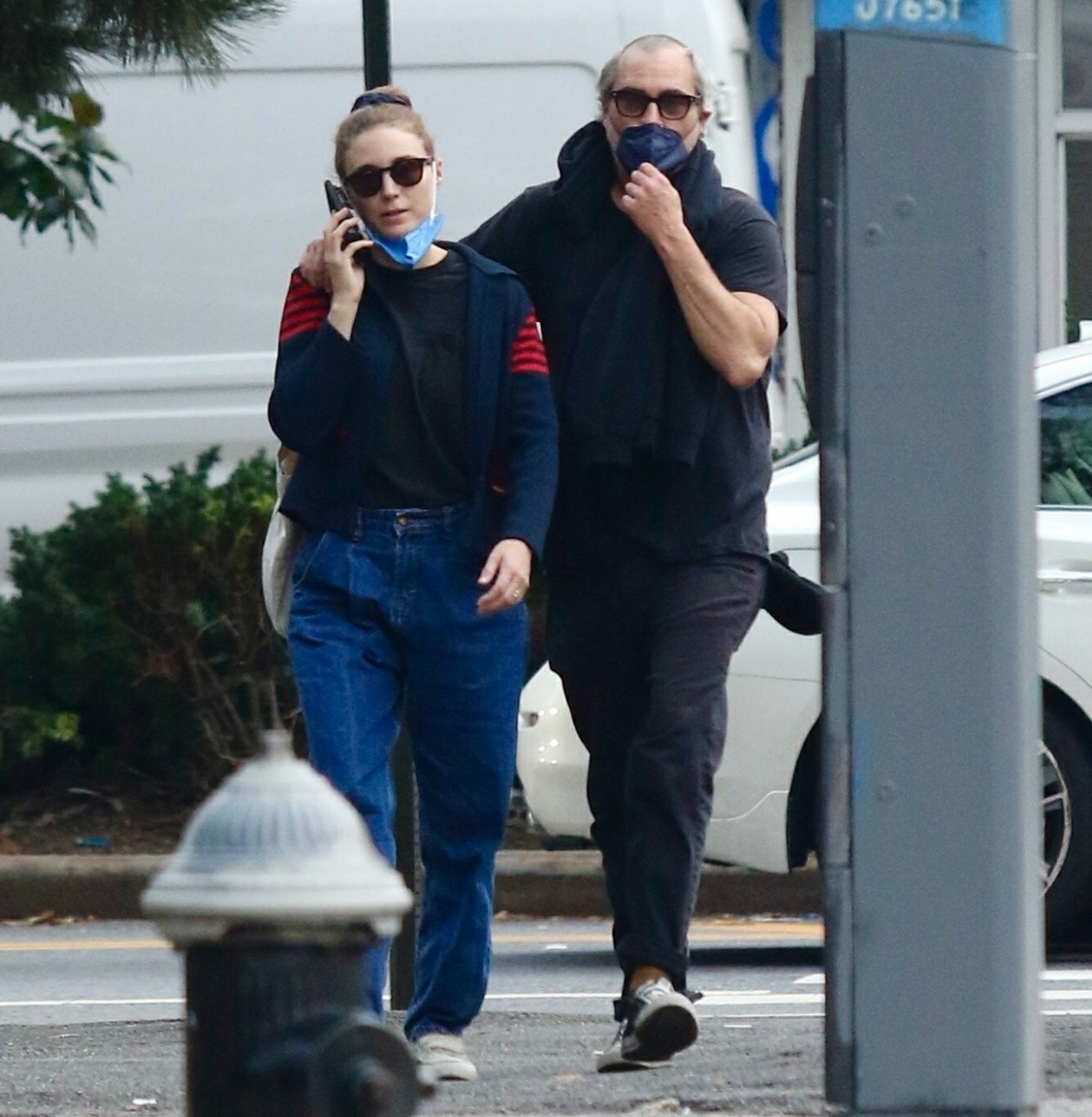 Joaquin Phoenix and Rooney Mara are totally inseparable during stroll in Manhattan