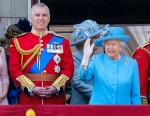 The Royal Family gather on the palace balcony  at Trooping the Colour and Queens Birthday Parade on 09/06/2018