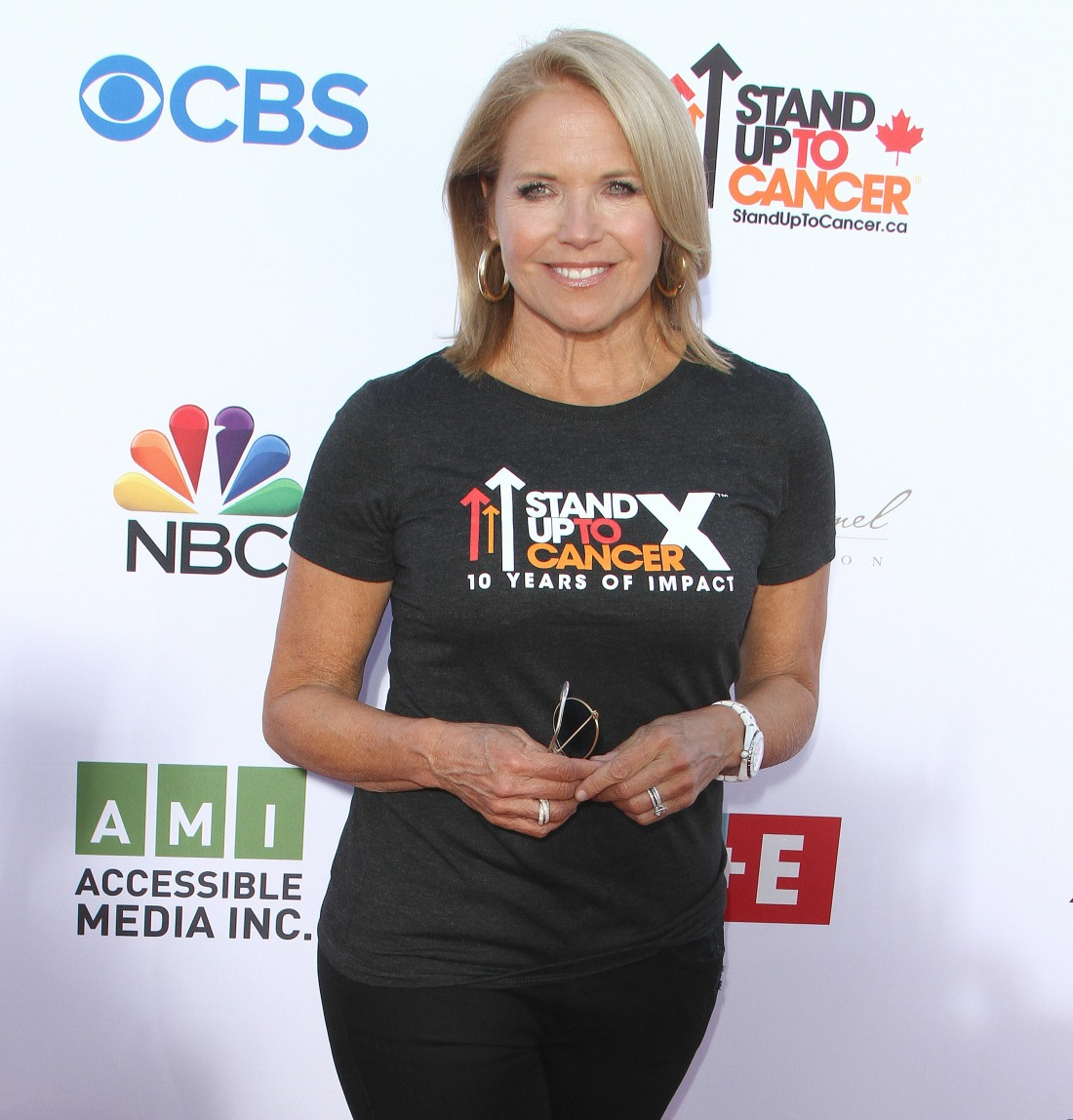 Katie Couric at the sixth biennial Stand Up To Cancer (SU2C) telecast at the Barker Hangar in Santa Monica