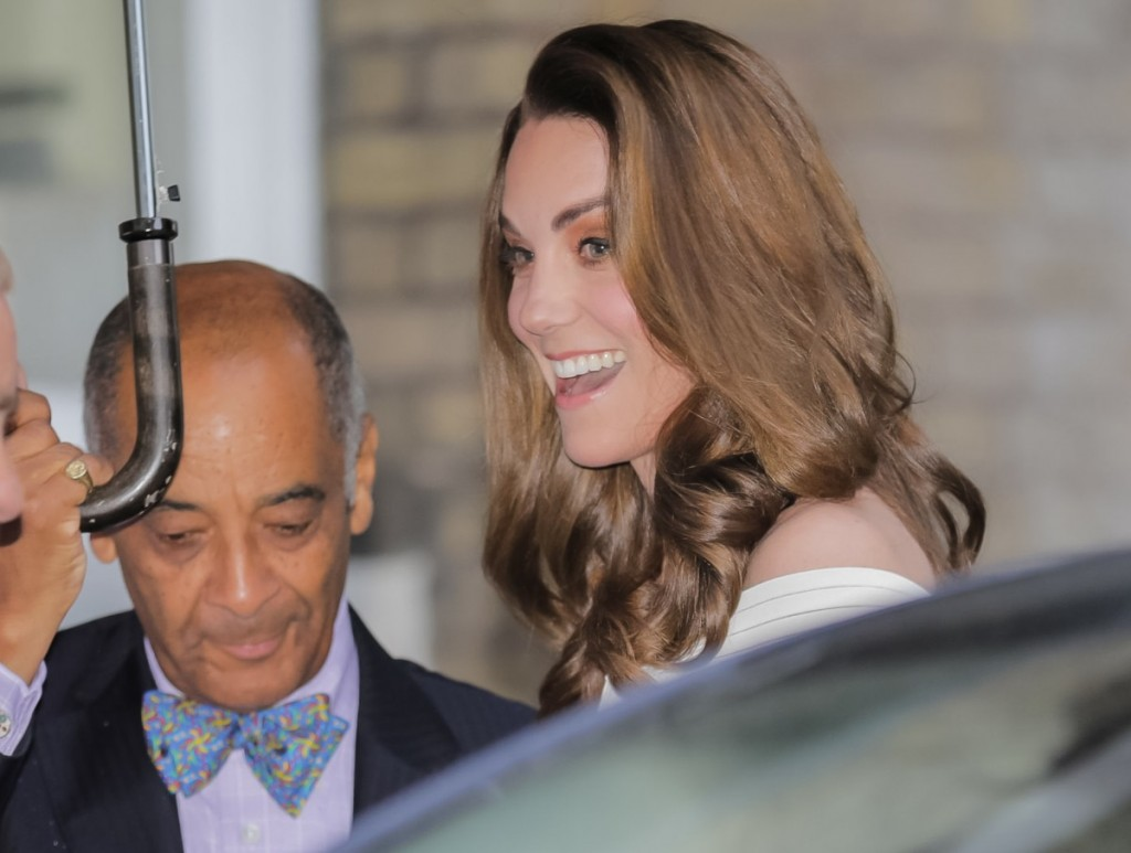 HRH, Catherine, Duchess of Cambridge arrives at Somerset House for Action on Addiction?Äôs gala dinner, London, UK