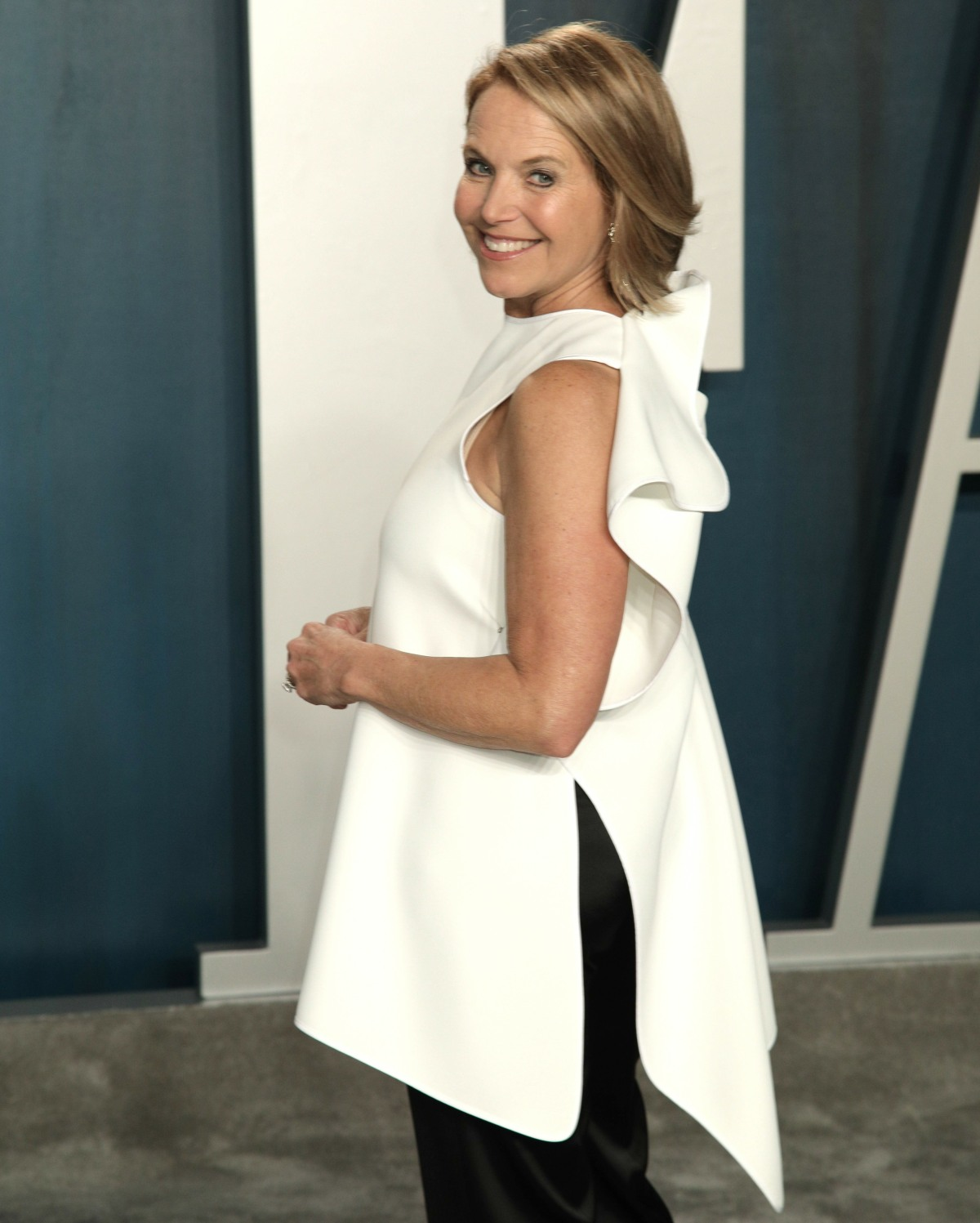 Katie Couric attends the 2020 Vanity Fair Oscar Party Celebrating the 92nd Annual Academy Awards hos...