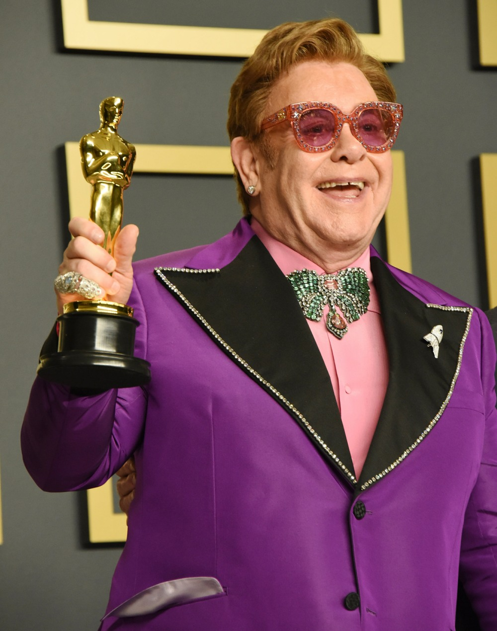 Elton John in the press room during the 92nd Annual Academy Awards at Hollywood and Highland on Febr...