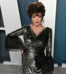 Joan Collins arrives at the 2020 Vanity Fair Oscar Party held at the Wallis Annenberg Center for the...