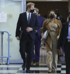 Prince Harry and Meghan Markle at the UN